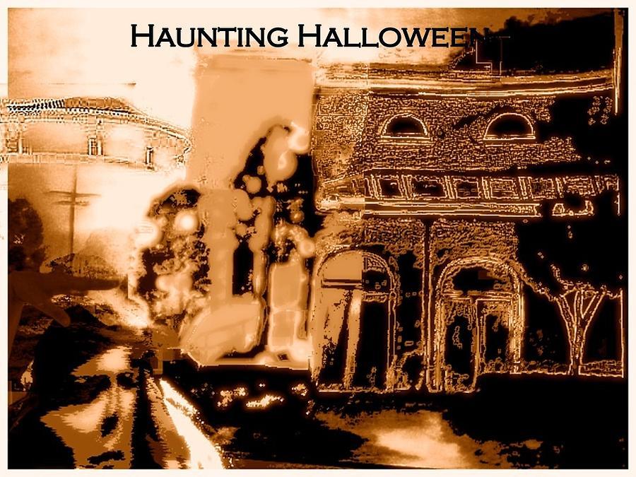 Haunting Halloween Mixed Media by Marian Hebert