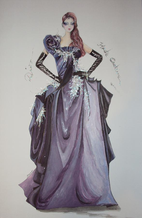 Haute Couture Drawing by Damira Fuzul