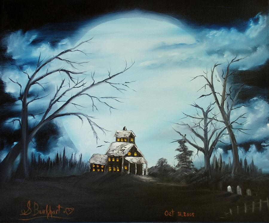 Haunted House Painting - Hauted Mansion 2005  by Shawna Burkhart