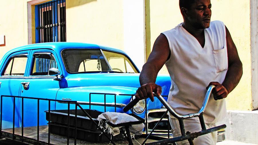 Old Cars Photograph - Havana Transportation by Kimberley Bennett