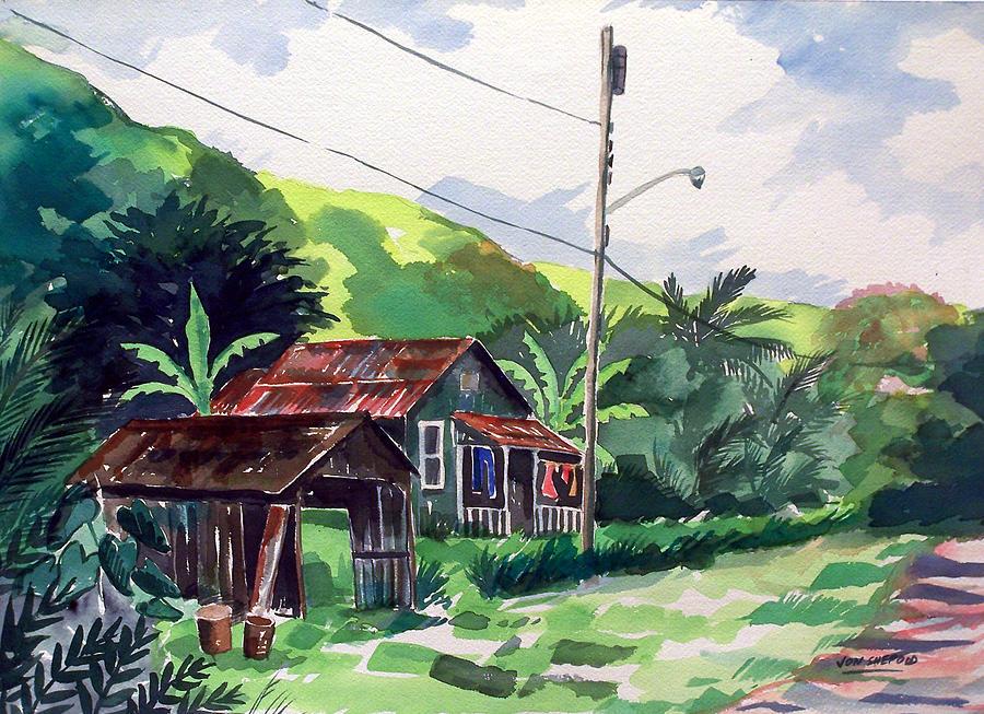 Hawaiian Home Painting by Jon Shepodd