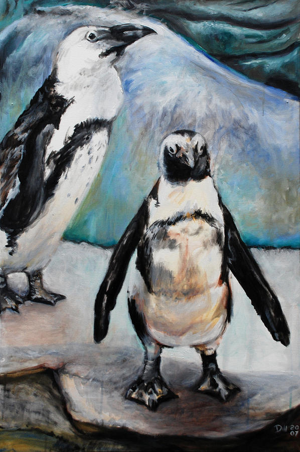Hawaiian Penguins Painting by Rust Dill