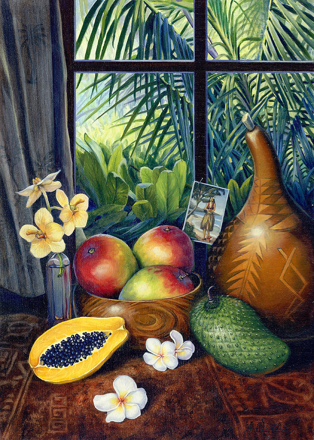 Hawaii Mixed Media - Hawaiian Still Life by Anne Wertheim