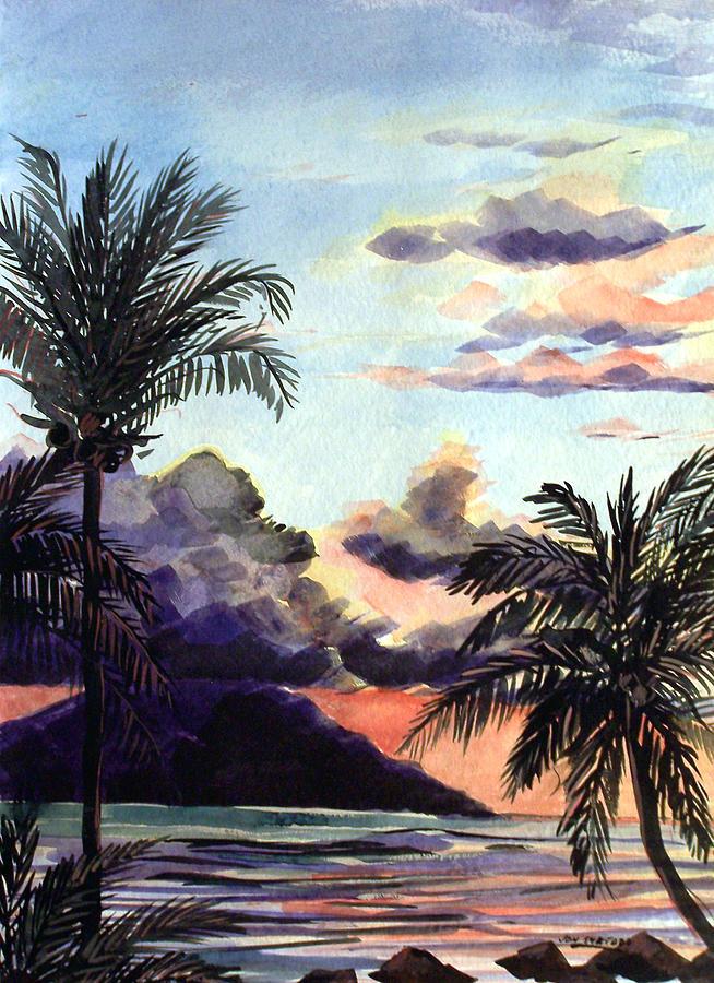 Hawaiian Sunset Painting by Jon Shepodd