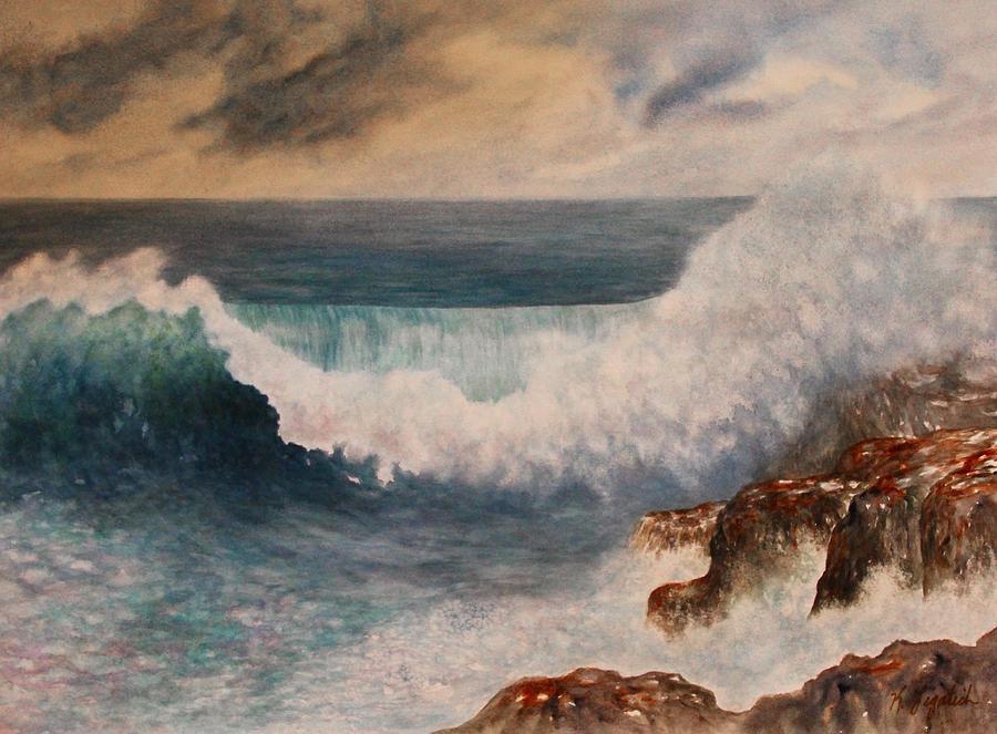 Seascape Painting - Hawaiian Wave by Kerri Ligatich