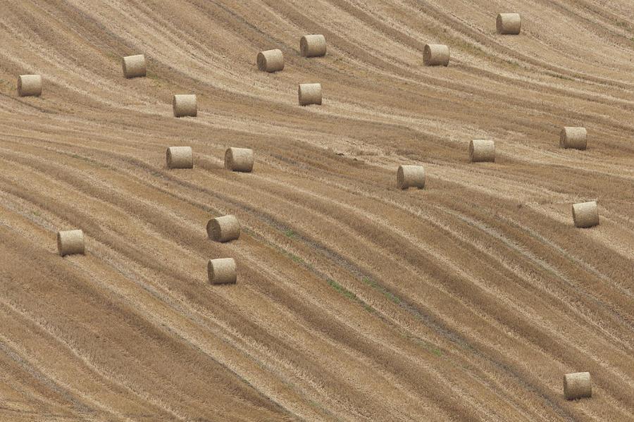 Horizontal Photograph - Hay Bales by Chris Brocklebank