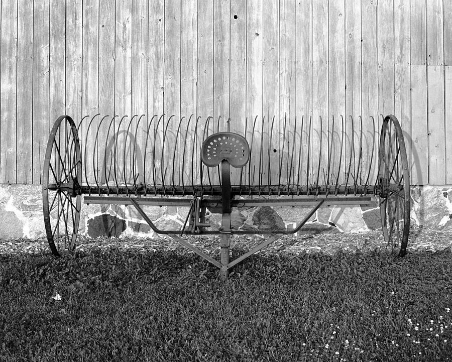 19th Century Farming Photograph - Hay Rake by Jan W Faul
