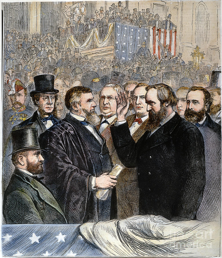1877 Photograph - Hayes Inauguration by Granger