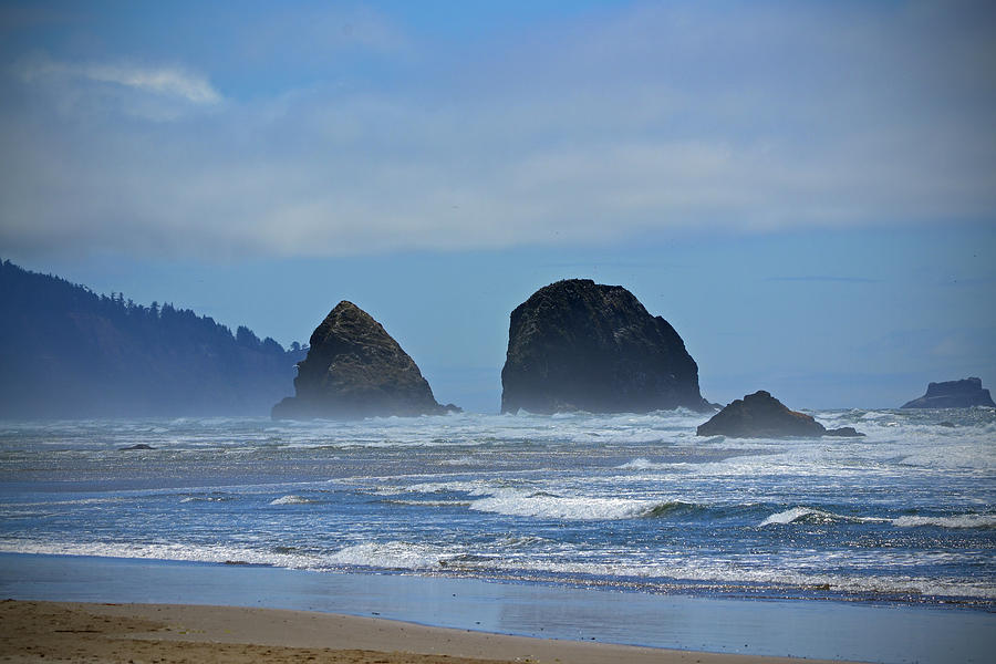Oregon Photograph - Haystacks Neighbors by Kyle Turner
