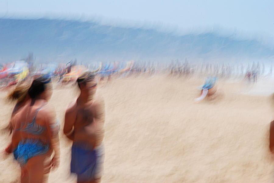 Spanish Photograph - Haze On The Beach by Perry Van Munster