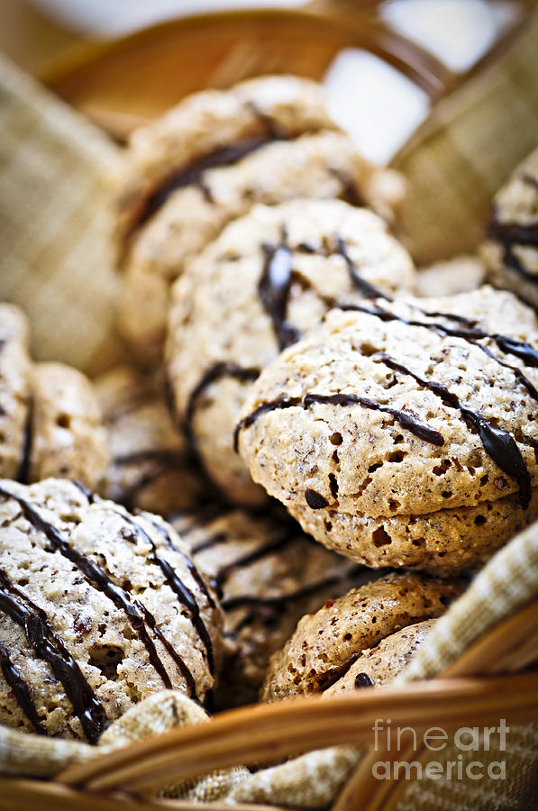 Cookie Photograph - Hazelnut Cookies by Elena Elisseeva