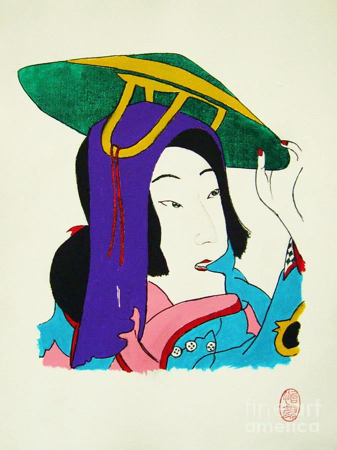Expressionism Painting - Hazukashigariya No Aisatsu by Roberto Prusso