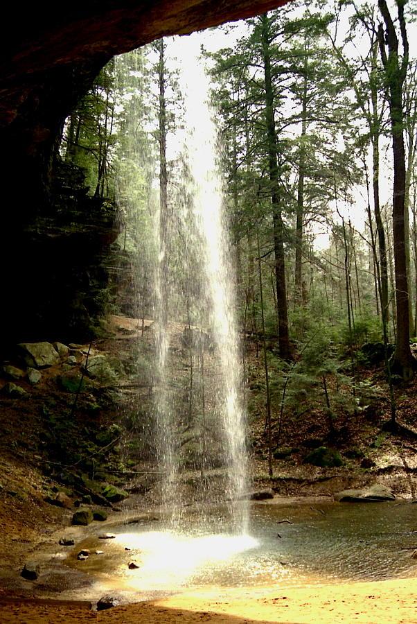 Waterfall Photograph - Hcking Hills Waterfall by Inga Smith