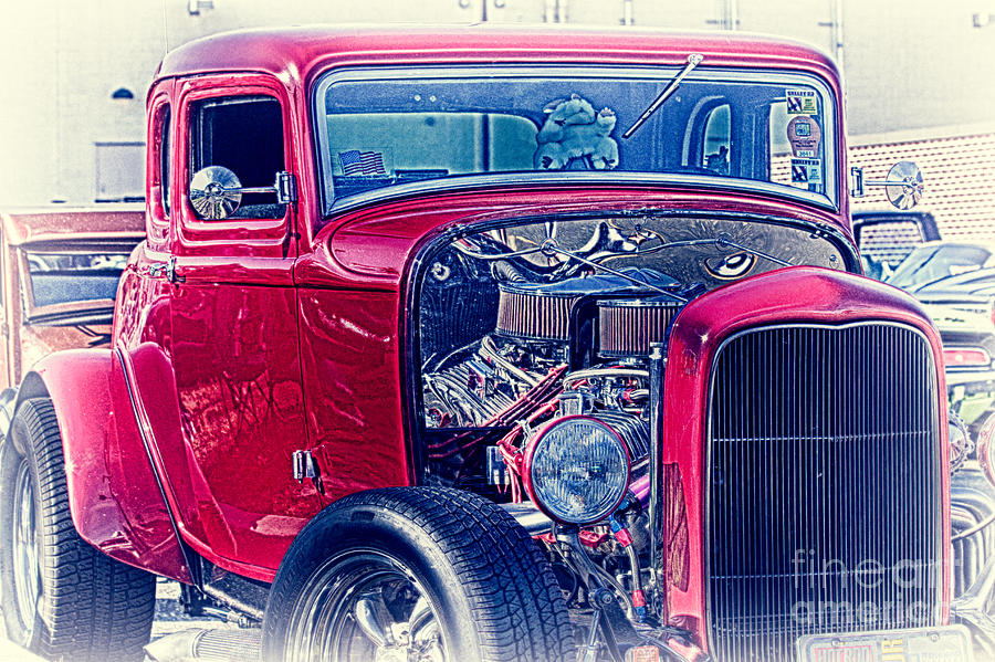 Hdr Photograph   Hdr Hot Rod Vintage Street Car Cars Cool Gallery Buy  Selling Custom New