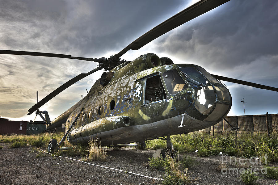 Helicopter Photograph - Hdr Image Of An Afghanistan National by Terry Moore