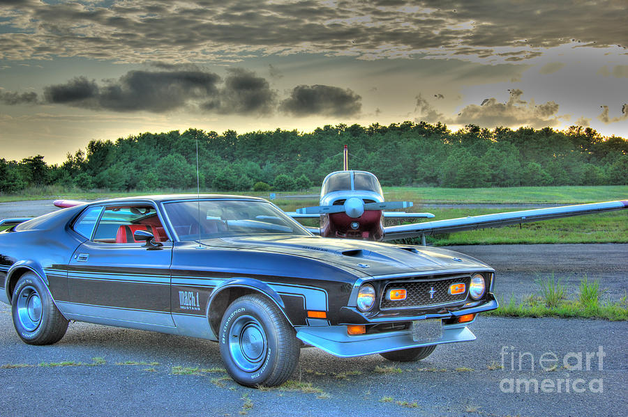 Hdr Mustang Plane Photo Pictures Photography Gallery New Sunset Hi Def Cool  Muscle Car Cars Buy Sell by Al Nolan