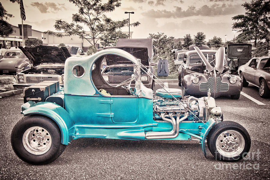 Hdr Photography Car Cars Hot Rod Vintage Black White Photo Picture ...