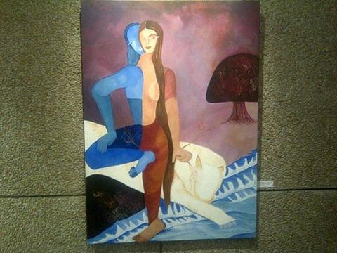 He And She Painting by Chitra Patnaik
