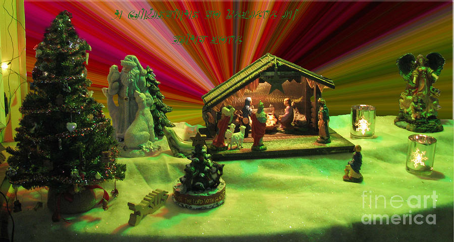 Manger Set Photograph - He Came To Save Us by Donna Brown
