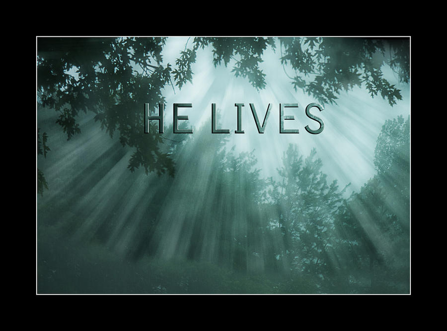 Rays Photograph - He Lives by Trudy Wilkerson
