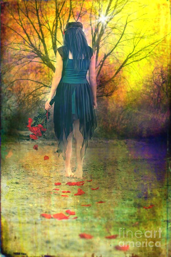 Women Digital Art - He Loves Me Not by Cindy Singleton