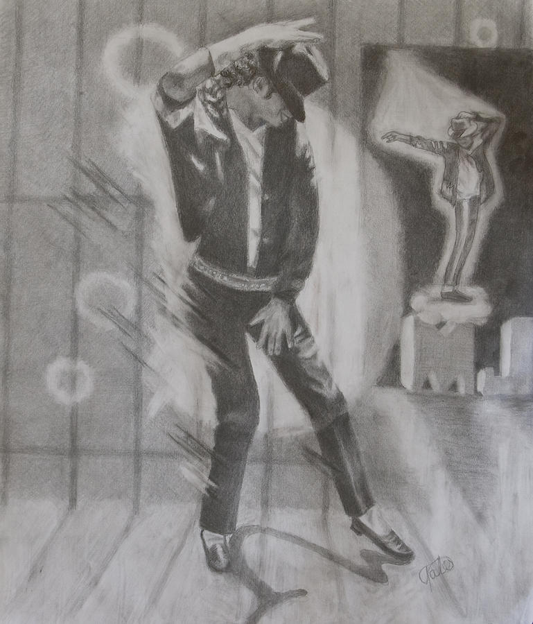Michael Jackson Drawing - He Still Dances by Joanna Gates