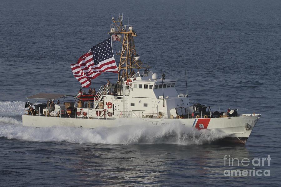 Military Photograph - He U.s. Coast Guard Cutter Adak by Stocktrek Images