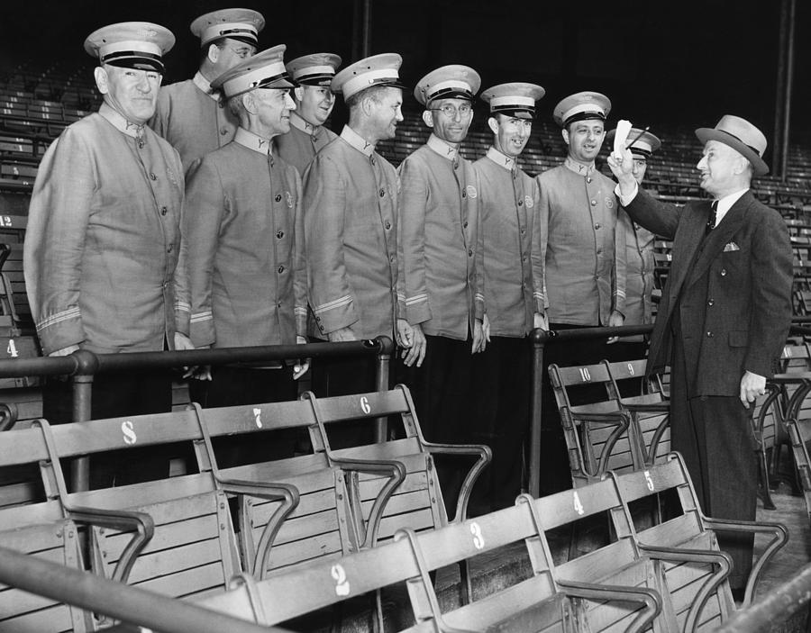 1930s Photograph - Head Usher Giving Instructions by Everett