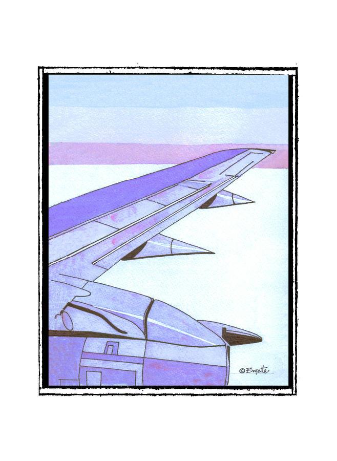 Aviation Painting - Headed Somewhere In Flight by Robert Boyette