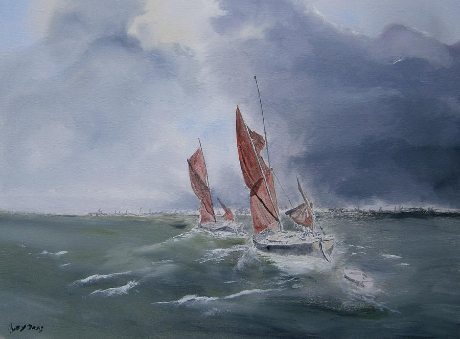 Seascape Painting - Heading Home by Andy Davis
