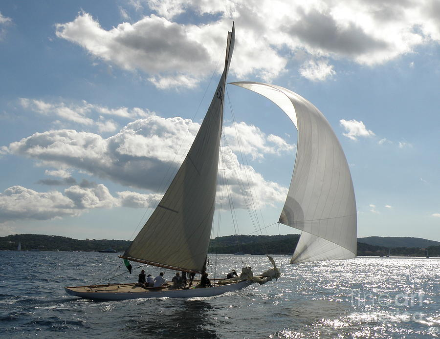 Sail Boat Photograph - Heading Home by Lainie Wrightson