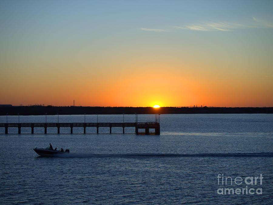 Sunset Photograph - Heading In by Arthur Herold Jr