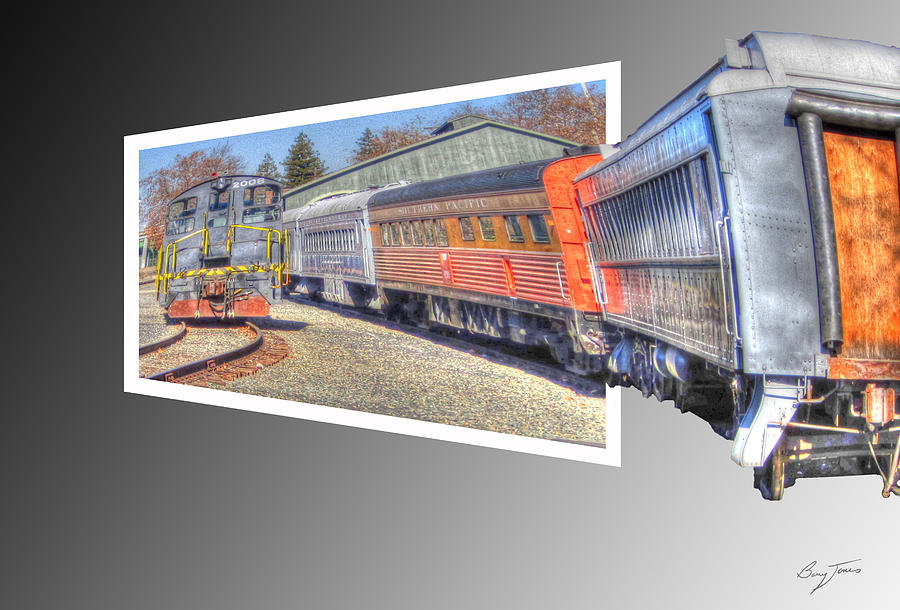Trains Photograph - Heading In by Barry Jones