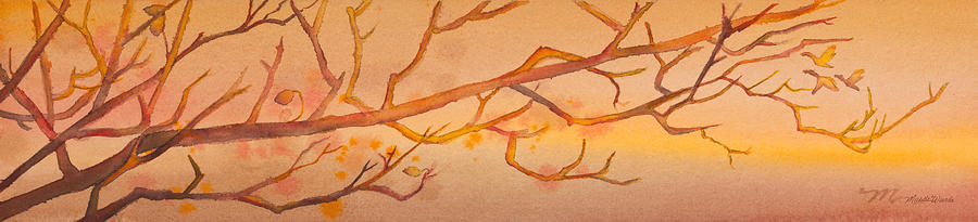 Geese Painting - Heading South Watercolor Painting  by Michelle Wiarda