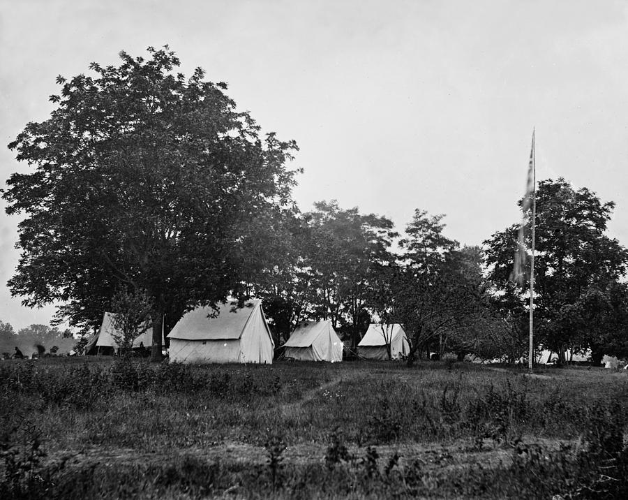 Civil War Photograph - Headquarters - Army Of The Potomac - Fairfax Courthouse Virginia 1863 by International  Images