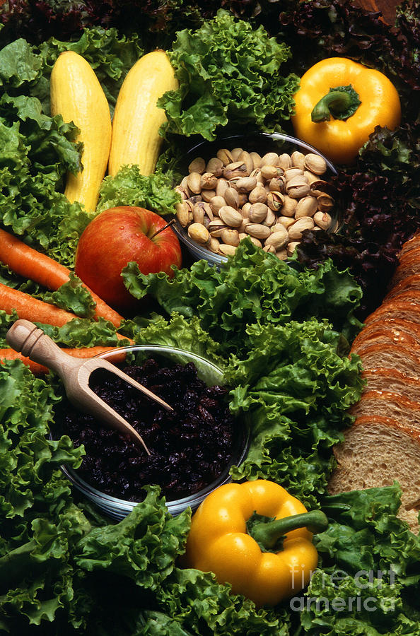 Agriculture Photograph - Healthy Foods by Photo Researchers