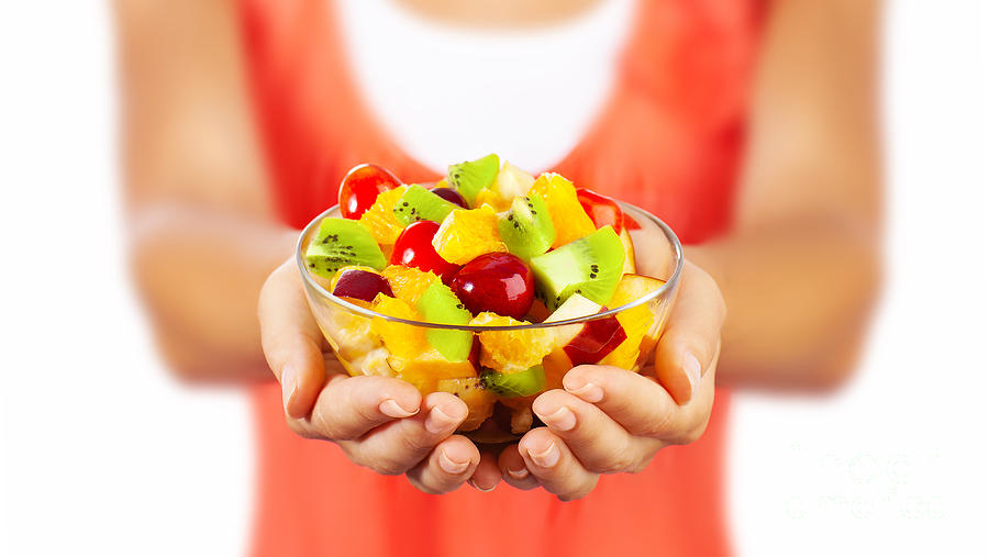 Background Photograph - Healthy Fruit Salad by Anna Om