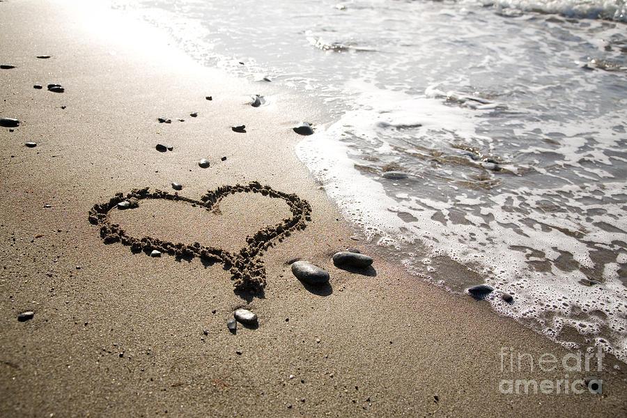 Heart At The Beach Photograph