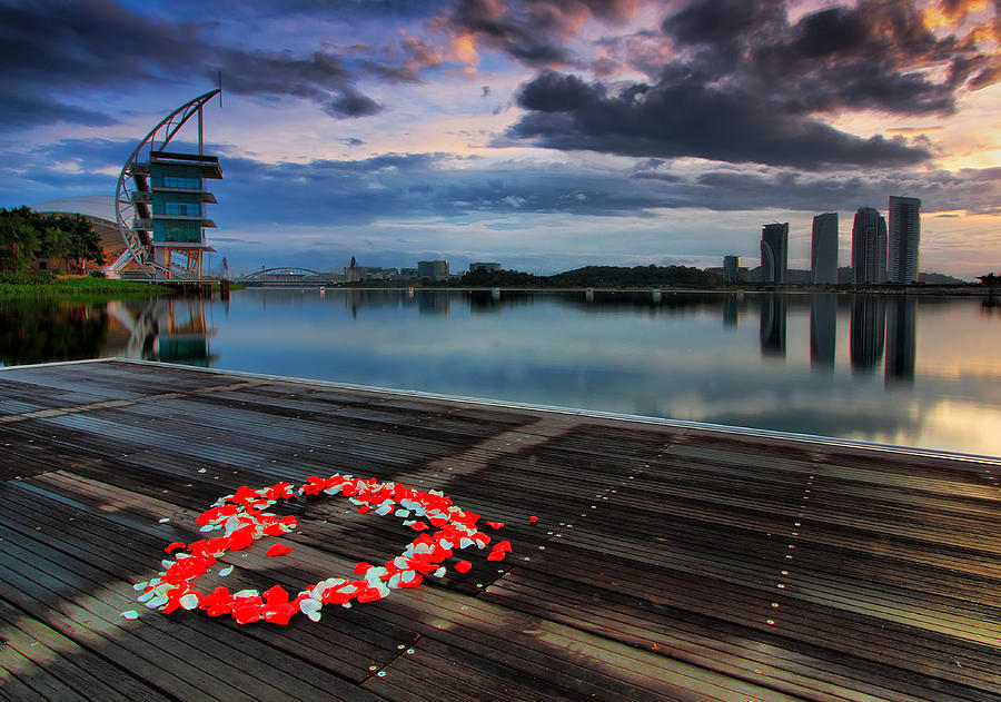 Heart By The Lake Photograph by Fakrul Jamil Photography