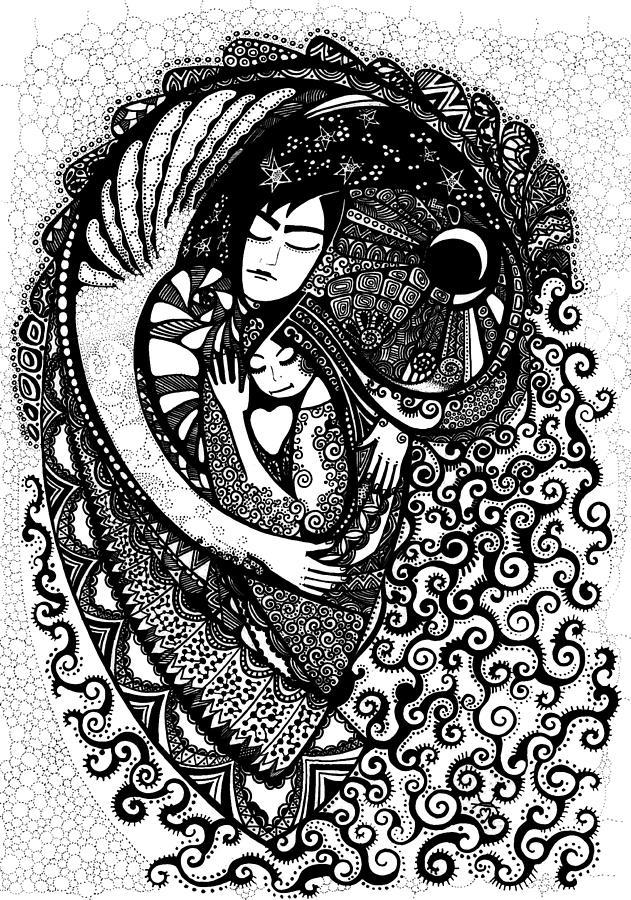 Allegory Drawing - Heart by Ievgeniia Lytvynovych