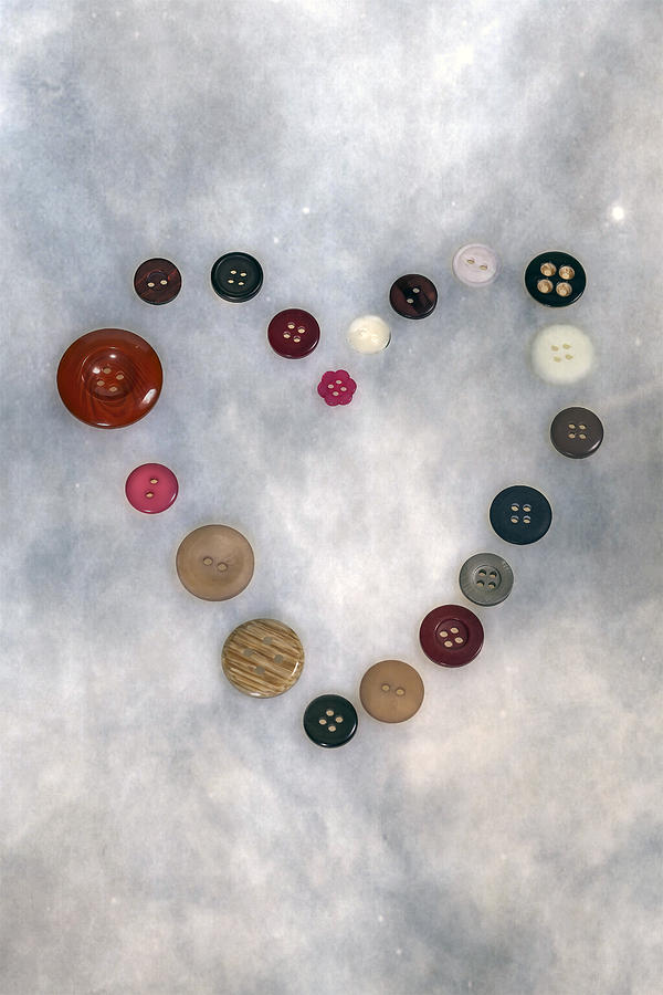 Button Photograph - Heart Of Buttons by Joana Kruse