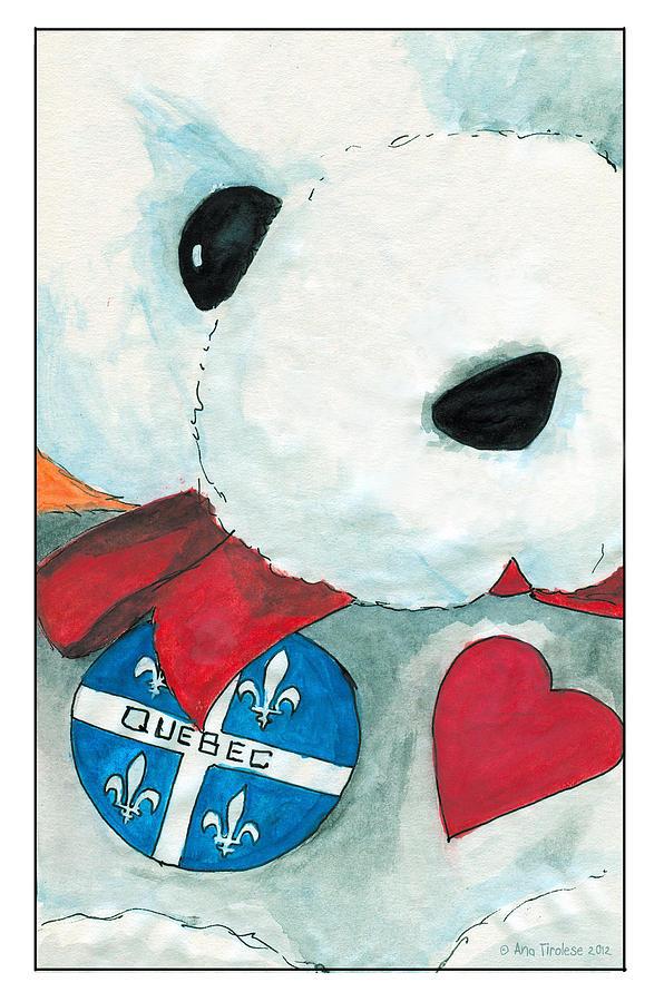 Heart Quebec Bear by Ana Tirolese