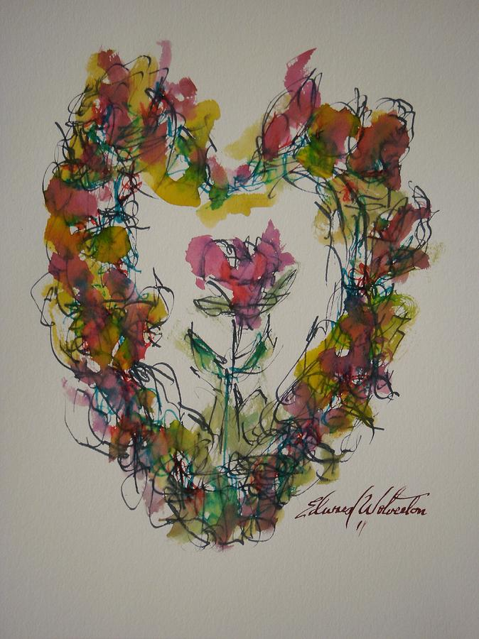 Hearts Of Fire Painting - Heart Strings by Edward Wolverton