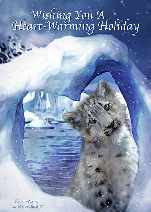 Christmas Card Mixed Media - Heart Warmer Card by Carol Cavalaris