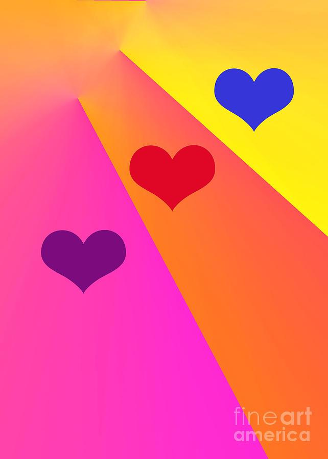 Heartbeams Digital Art by Susan Stevenson