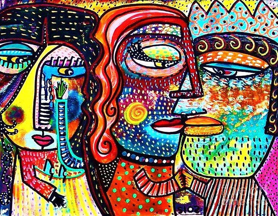 Women Painting - Heartbreak Dance by Sandra Silberzweig