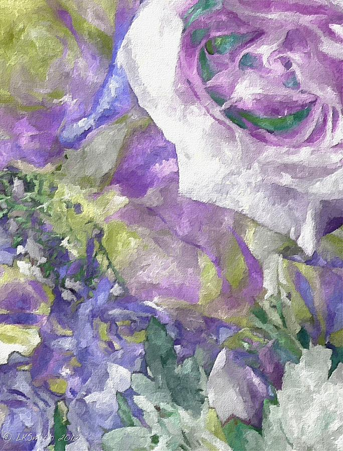 Flowers Painting - Heartfelt by Lynda K Cole-Smith