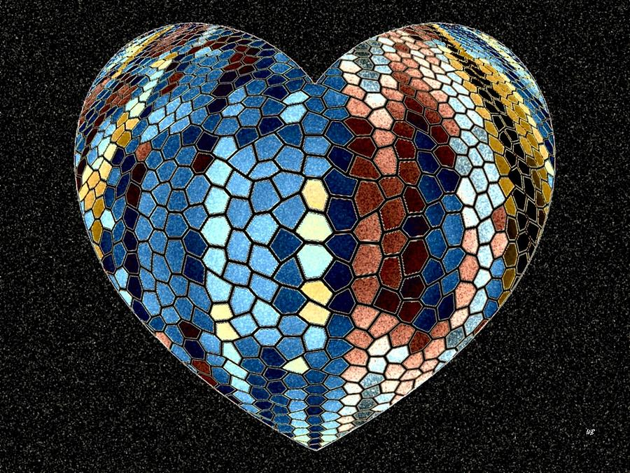 Heart Digital Art - Heartline 4 by Will Borden