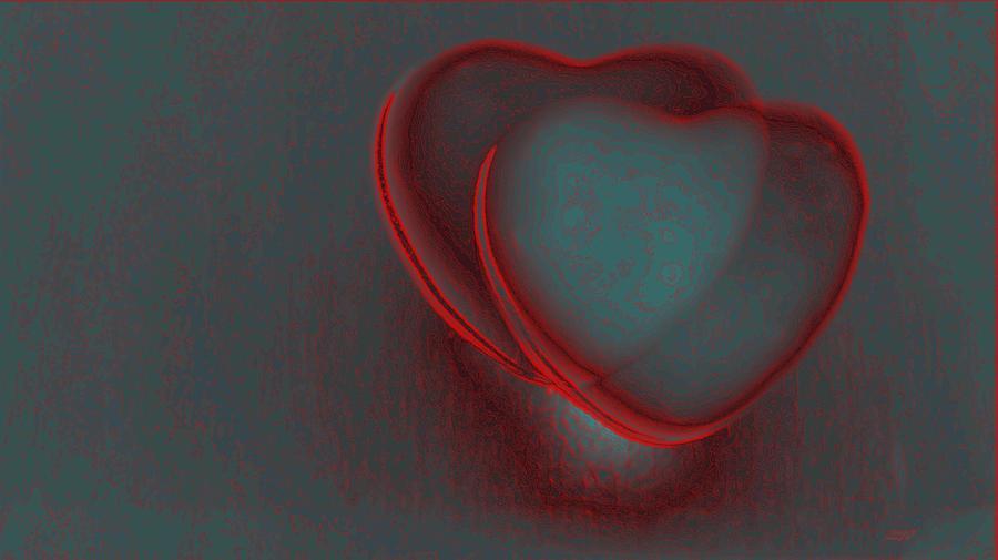 Hearts Digital Art - Hearts-r by Ines Garay-Colomba