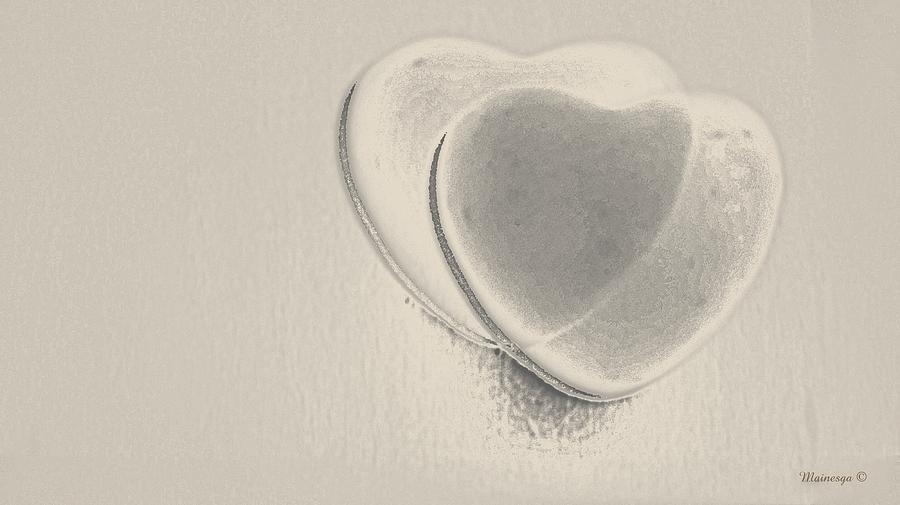 Hearts Digital Art - Hearts-smooth by Ines Garay-Colomba